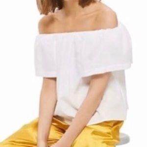 🛍TopShop Cotton Crop Top NWT